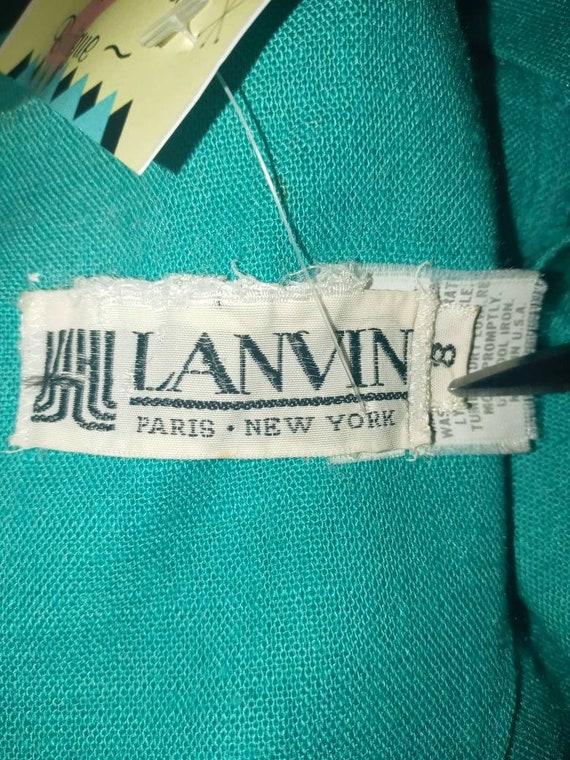 Vintage Lanvin dress 1980's Rockabilly - image 4