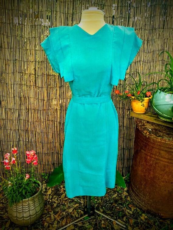 Vintage Lanvin dress 1980's Rockabilly
