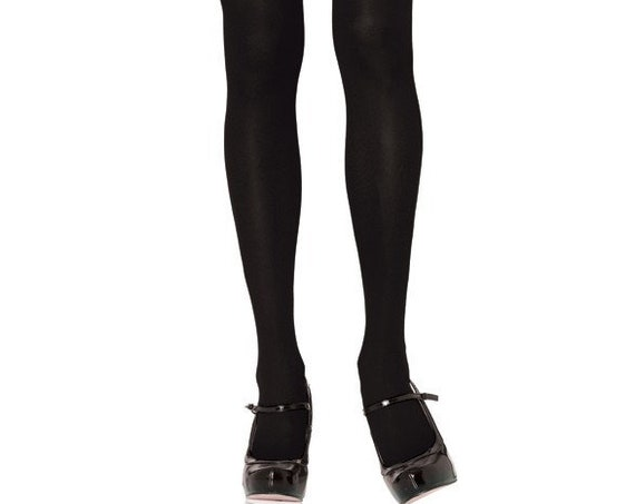 Leg Avenue Black Opaque Tights