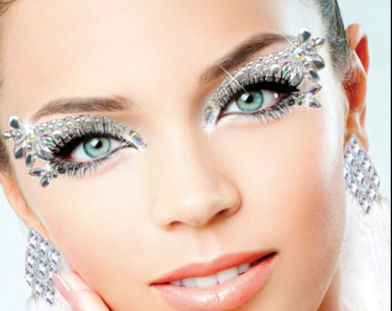 ICE QUEEN-Xotic Exotic Eyes Glitter Crystal Tattoo Eye Kit with Lashes