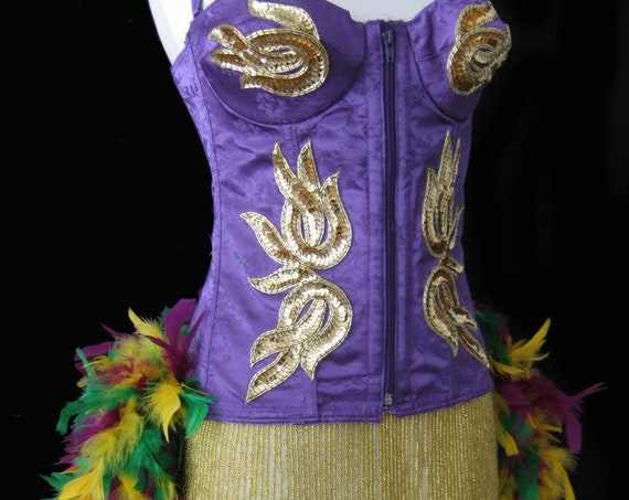 Pick Size-Purple Mardi Gras Moulin Burlesque Pin Up Carnival Costume Feathers