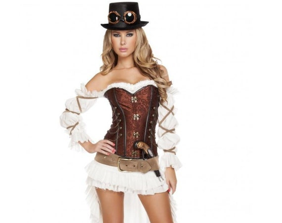 Roma Costume 4576- 7pc Sexy Steampunk Babe
