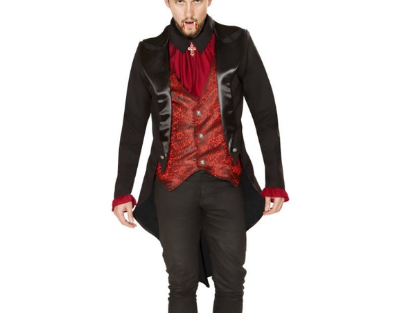 Roma Costume Mens 2pc Terror of the Night Vampire 4865