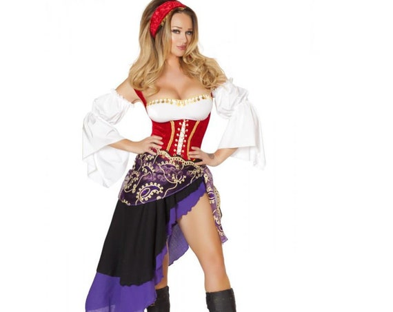 Roma Costume 6pc Sexy Gypsy Maiden Costume 4532