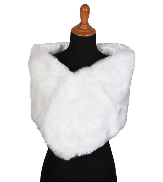 Faux Fur Shoulder Wrap-Pick Color
