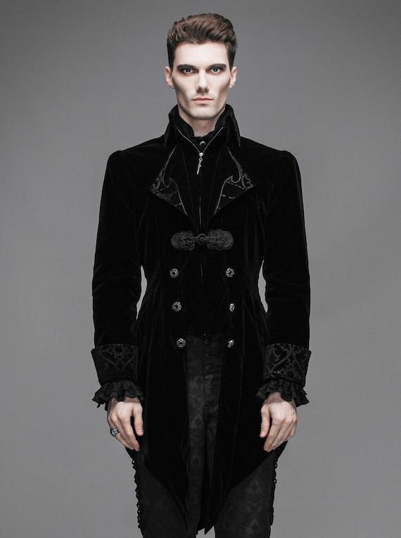 S-XL Mens Vintage Style Gothic Swallowtail Jacket CT2201