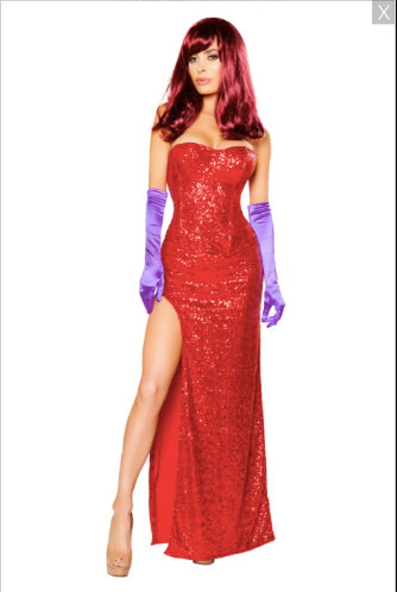 2 Pc Rabbit Lover Red Sequin Corset Dress-Jessica Roma 1088