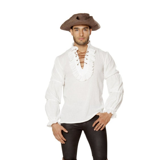 Roma Costume 4651 - Mens Pirate Shirt-White