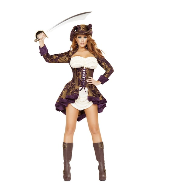 Roma Costume 3pc Classy Pirate Costume 4649
