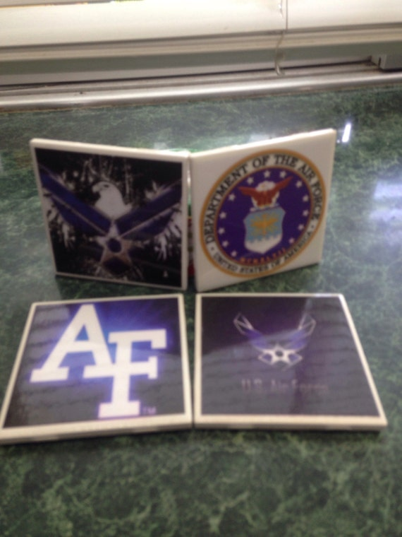United States Air Force Ceramic Tile Coasters
