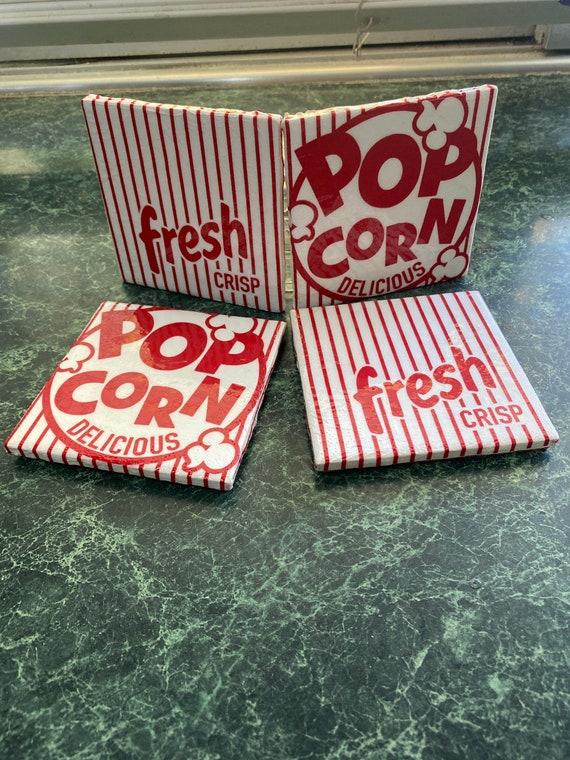 Movie Night Popcorn coasters