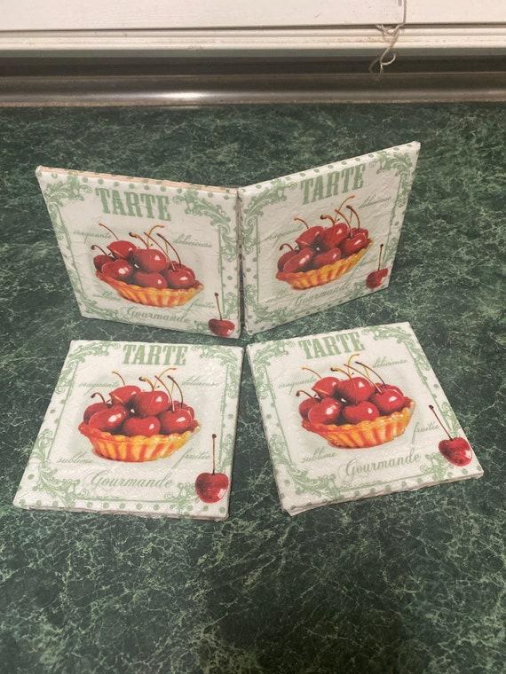 Tarte Cherry Pie tile coasters