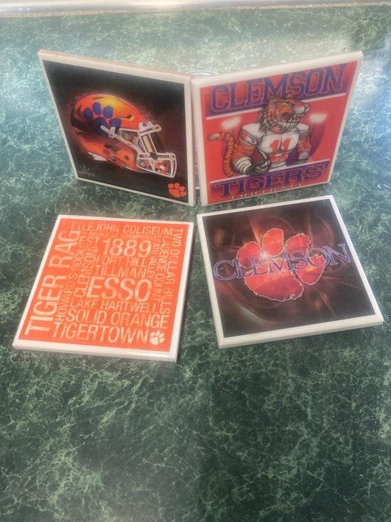 Clemson Tigers Ceramic Tile Coasters
