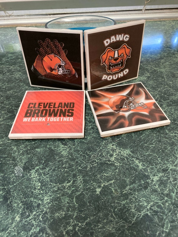 Browns Ceramic Tile Coasters