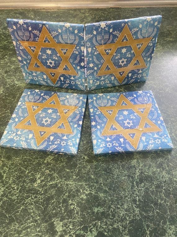 Chanukah Ceramic Tile Coasters