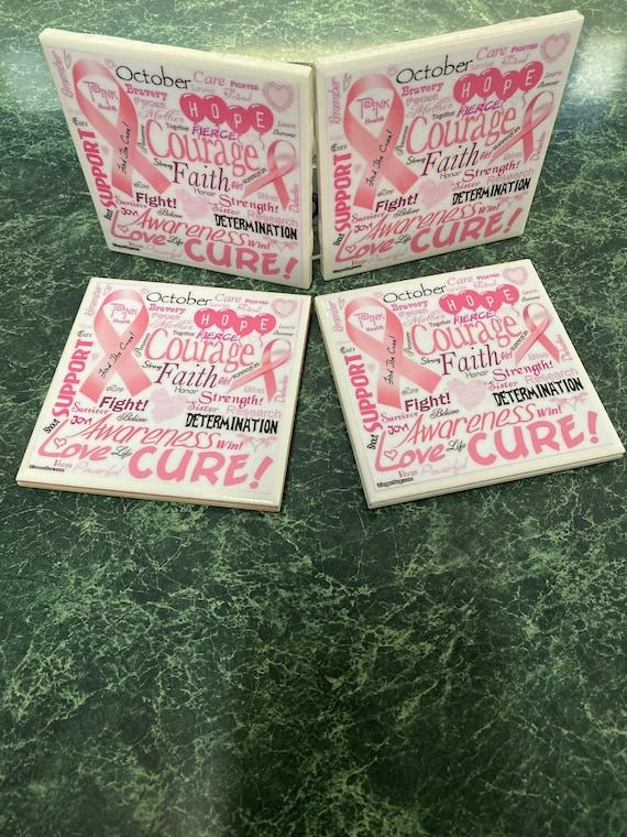 Pink Ribbon Coasters
