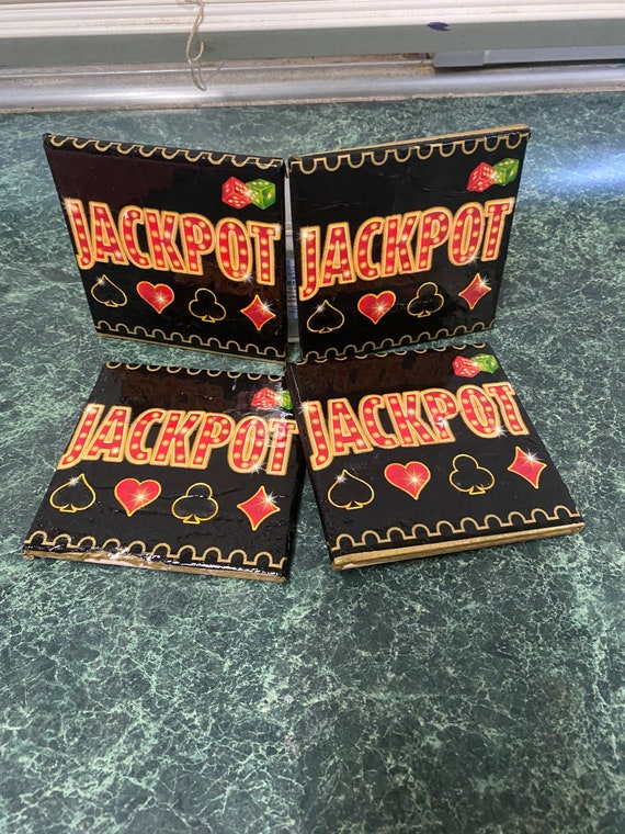 JACKPOT napkin tile coasters