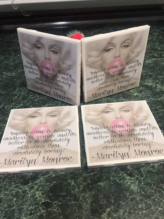 Marilyn Monroe Ceramic Tile Coasters