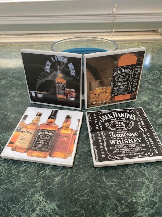 Jack Daniels Ceramic Tile Coasters