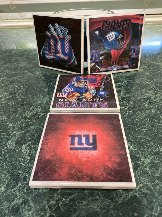 Giants ceramic tile coasters