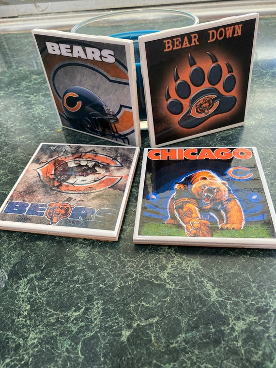 Bears ceramic tile coasters