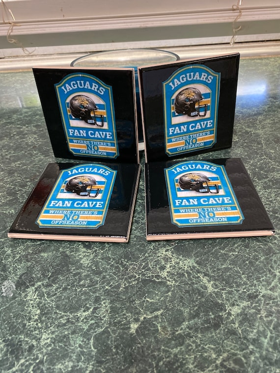 Jaguars ceramic tile coasters