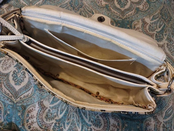 Carpet Brocade Vintage Purse Handbag Pocketbook T… - image 9