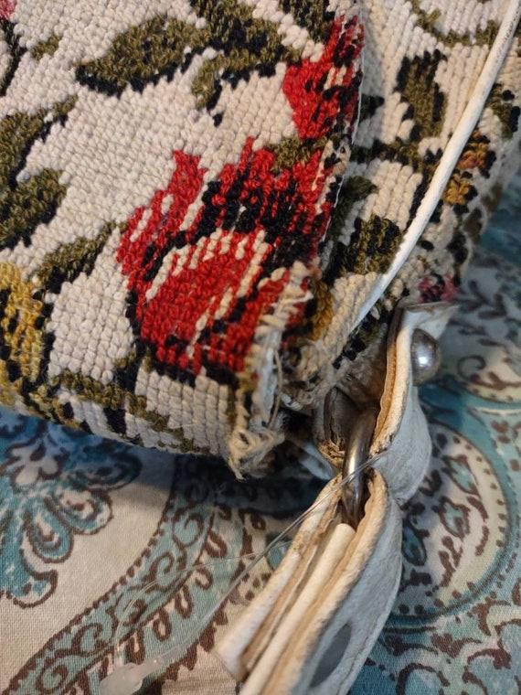 Carpet Brocade Vintage Purse Handbag Pocketbook T… - image 5