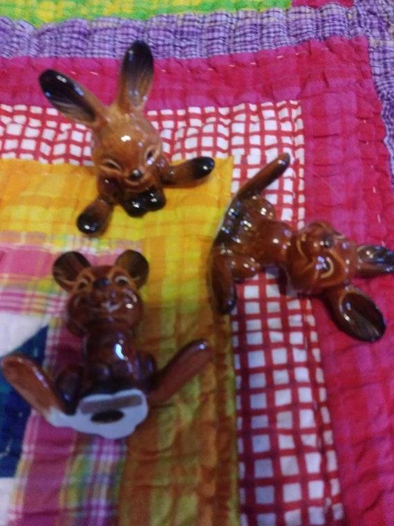 Thumper Walt Disney Goebel Germany RabbitBunny pair Cork Bottom Salt /& Pepper Set