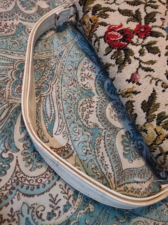 Carpet Brocade Vintage Purse Handbag Pocketbook T… - image 4