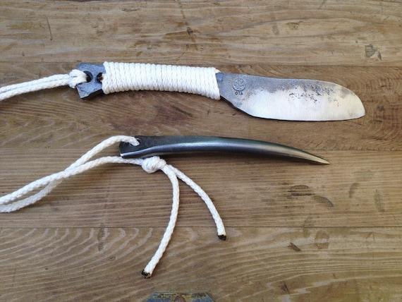 Sailors rigging knife, marlin spike set hand forged handmade