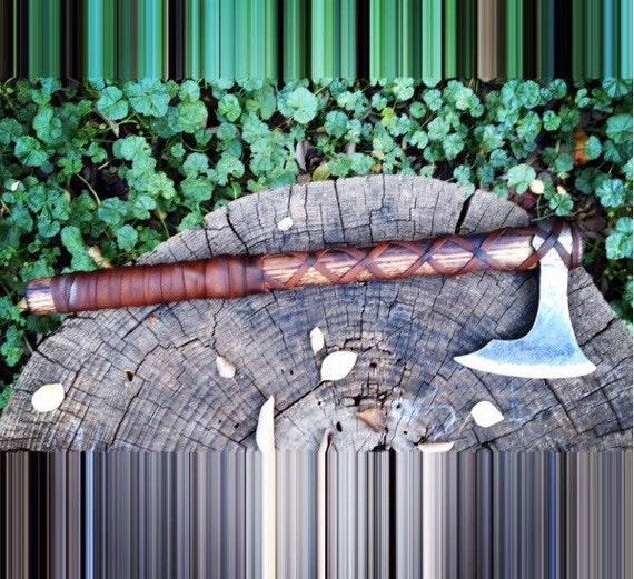 Viking inspired camp hawk hand forged handmade