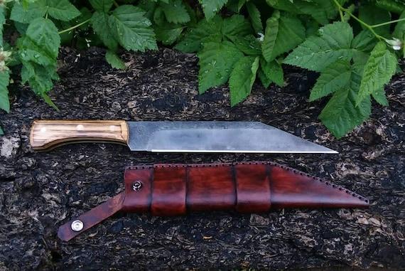 Viking large scaled seax and sheath