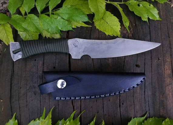 Integral field knife and sheath hand forged handmade