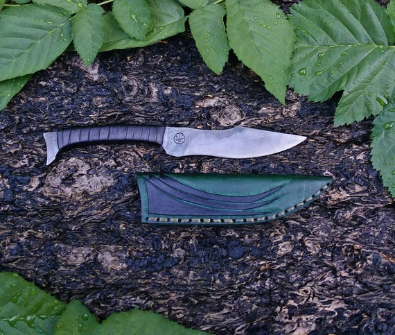 Integral utility knife hand forged handmade