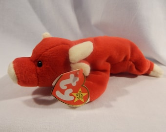 1376064c7ef Vintage TY 1995 Beanie Babies Snort the Bull Retired