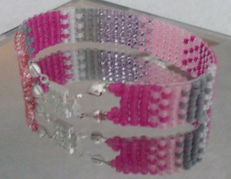 Size 15 inches38 cm Serape in Pinks Woven Beads Browband