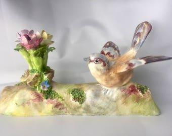 Vintage Crown Staffordshire J.T Jones Shrike #25 Bird Figurine Free Shipping