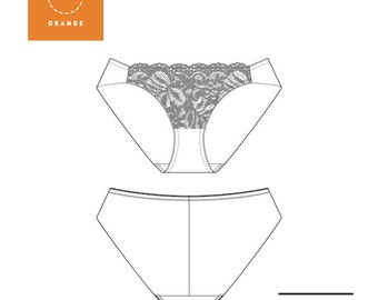 Instant Download PDF lingerie sewing pattern for hipster brief panties/underwear designed for style and comfort - Montgomery Brief
