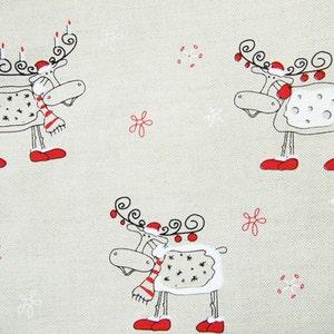 Natural Linen Cloth Ladybug Half Yard Linen Cotton fabric Fat Quarter Full Yard