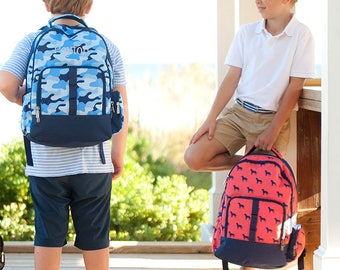 Monogrammed Back to School Dog Days Cool Camo Backpack Elementary