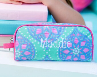 Monogrammed Toiletry Bag Pencil Pouch Travel Teen Cosmetic Marlee