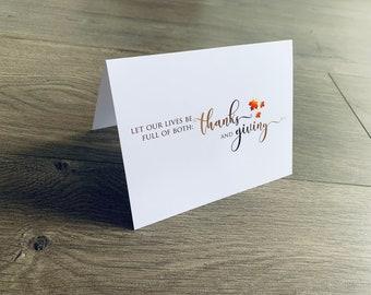 Giving Thanks Notecard Collection, thanksgiving notes, thanksgiving stationery, fall cards, notes, thankful, gratitude, thank you notes