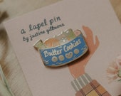 Butter Cookie Sewing Kit Enamel Pin | Hard Enamel, Lapel Pin, Flair, Sewing Pin, Butter Cookie Pin, Sewing Gifts, Quilter Gifts, Seamstress