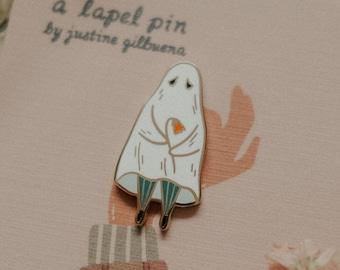 Shy Ghost Enamel Pin   Enamel pin, Ghost Enamel Pin, Halloween Enamel Pin, Autumn Enamel Pin, Spooky Enamel Pin, Ghost Pin, Ghost Brooch
