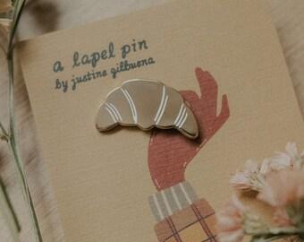Croissant Enamel Pin | Hard Enamel, Lapel Pin, Flair, Brooch, Food Pin, Baker Pin, French Pin, Gifts for Bakers, Pastry Gifts