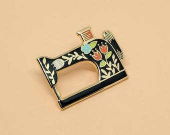 Sewing Machine Enamel Pin | Hard Enamel, Enamel Pin, Lapel Pin, Flair, Sewing Gifts, Gifts for Sewist, Sewing Machine, Quilter Gifts