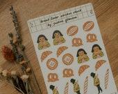 Bread Lover Planner Sticker Sheet | Bread Stickers, Bread Sticker Sheet, Bakery Gifts, Gifts for Baker, Bread Gifts, Journaling, Collage