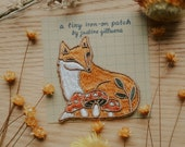 Fox Tiny Iron-On Patch | Iron on patch, Iron on patch flower, Patch, Patches, Patches for jackets, Patch for backpack, Mushroom Patch