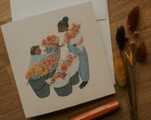 Flower Market Greeting Card | Stationery, Blank Cards, Cozy Stationery, Blank Greeting Cards, Floral Greeting Card